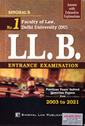 Solved Papers From 2003 to 2013 of LL B Entrance Test Faculty of Law Delhi University