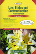Law Ethics and Communication a Referencer for CA Inter IPC