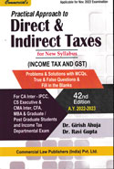 Practical Approach to Direct and Indirect Taxes Income Tax and GST Assessment Year 2020-2021