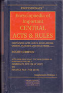 Encyclopaedia of Important Central Acts and Rules In 32 Vols