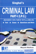 Criminal Law Part I IPC Based On New Syllabus