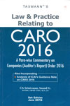 Law and Practice Relating to CARO 2016