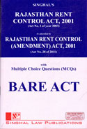 Rajasthan Rent Control Act 2001 With Multiple Choice Questions Bare Act