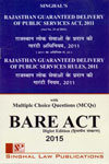 Rajasthan Guaranteed Delivery of Public Services Act 2011 and Rajasthan Guaranteed Delivery of Public Services Rules 2011 With Multiple Choice  Questions Bare Act Diglot Edition