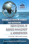 Dynamics of Financial Markets and Institutions