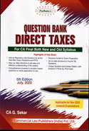 Question Bank Direct Taxes for CA Final