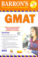 Barrons the Leader in Test Preparation GMAT 2018