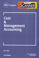 Scanner Cost and Management Accounting for CS Executive June 2019 Exam Old Syllabus