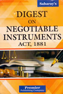 Digest on Negotiable Instruments Act 1881