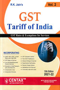 GST Tariff of India In 2 Vols