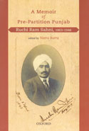 A Memoir of Pre Partition Punjab Ruchi Ram Sahni 1863-1948