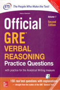 Official GRE Verbal Reasoning Practice Questions With Practice for the Analytical Writing Measure Volume 1