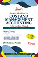 Students Handbook on Cost and Management Accounting for CA Inter New Syllabus