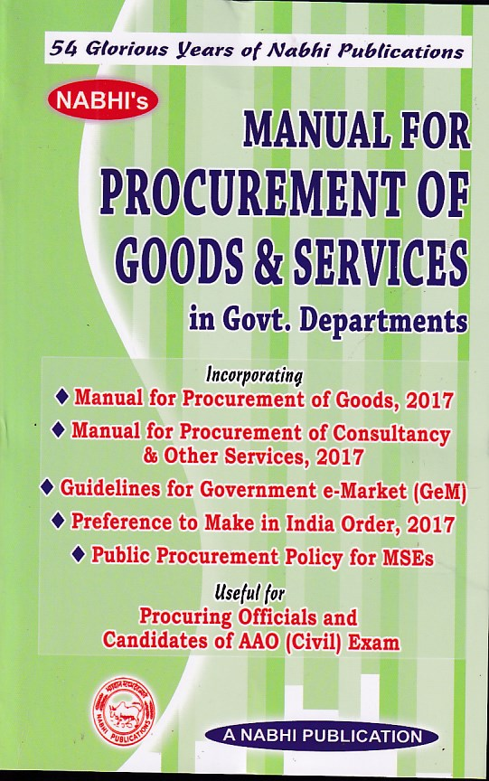 Manual for Procurement of Goods and Services in Government Departments