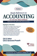 Ready Referencer on Accounting for CA Inter IPC Group I