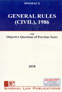 General Rules Civil 1986 With Objective Questions of Previous Years