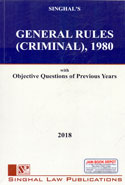 General Rules Criminal 1980 With Objective Questions of Previous Years