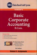 Basic Corporate Accounting Text and Illustrations and Assignments In 2 Vols