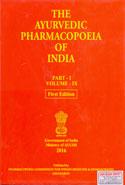 The Ayurvedic Pharmacopoeia of India Part I Volume IX
