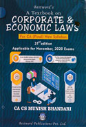 Corporate and Economic Laws Applicable for November 2018 Exams for New Syllabus