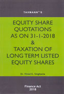 Equity Share Quotations as on 31-1-2018 and Taxation of Long Term Listed Equity Shares