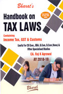 Handbook on Tax Laws Containing Income Tax GST and Customs A.Y. 2018-19