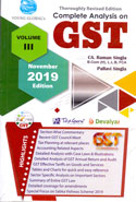 Complete Analysis on GST Section Wise Commentary In 3 Vols