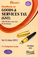 Handbook on Goods and Services Tax GST With MCQs as per New ICAI Scheme for CA Inter IPCC for May 2019 Exams