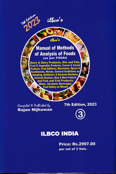 Manual of Methods of Analysis of Foods as per FSSAI in 2 Vols.
