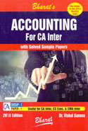 Accounting for CA Inter With Solved Sample Papers Group I Paper 1 Useful for CA Inter CS Executive and CMA Inter New Syllabus for November 2018 and May 2019 Exams