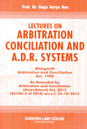 Lectures on Arbitration Conciliation and ADR Systems