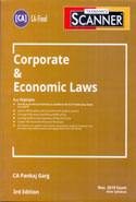 Scanner Corporate and Economic Laws for CA Final Nov 2019 Exam New Syllabus