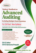 Students Handbook on Advanced Auditing for CA Final New Syllabus