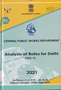 CPWD Analysis of Rates for Delhi In 2 Vols 2018 with correction slip