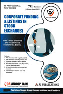 Corporate Funding & Listings in Stock Exchanges CS Professional New Course