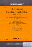 The Indian Contract Act 1872 Bare Act with Short Comments