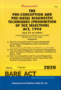 The Pre Conception And Pre Natal Diagnostic Techniques Prohibition Of Sex Selection Act 1994